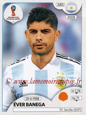 2018 - Panini FIFA World Cup Russia Stickers - N° 285 - Ever BANEGA (Argentine)