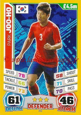 Topps Match Attax England 2014 - N° 202 - Park JOO-HO (Corée)