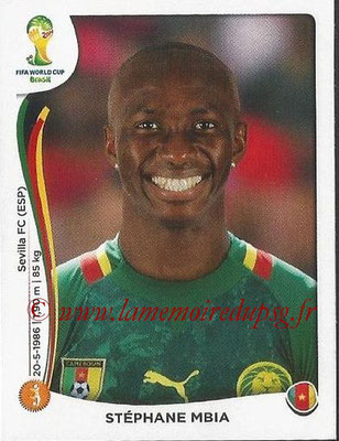 2014 - Panini FIFA World Cup Brazil Stickers - N° 098 - Stéphane MBIA (Cameroun)