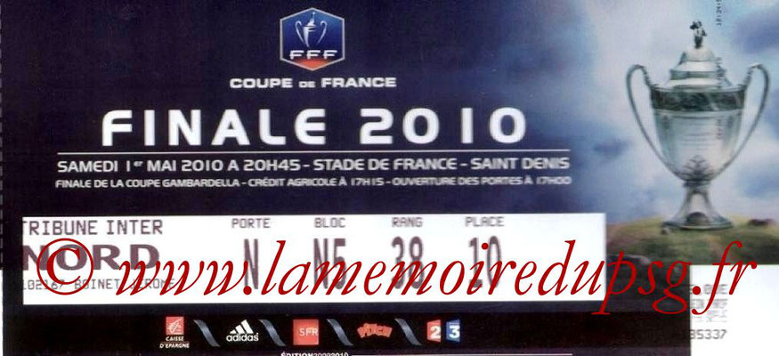 Tickets  PSG-Monaco  2009-10