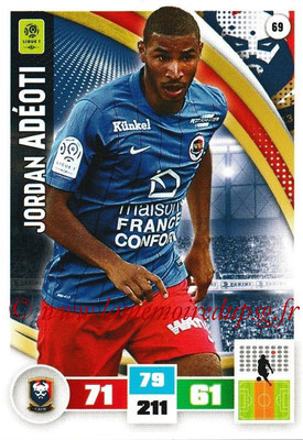2016-17 - Panini Adrenalyn XL Ligue 1 - N° 069 - Jordan ADEOTI (Caen)