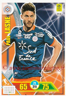 2017-18 - Panini Adrenalyn XL Ligue 1 - N° 213 - Paul LASNE (Montpellier)