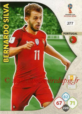 2018 - Panini FIFA World Cup Russia Adrenalyn XL - N° 277 - Bernardo SILVA (Portugal)
