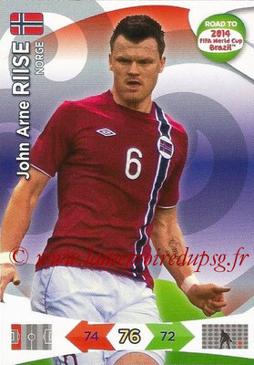 2014 - Panini Road to FIFA World Cup Brazil Adrenalyn XL - N° 141 - John Arne RIISE (Norvège)