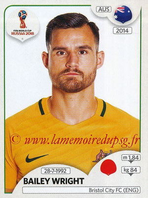 2018 - Panini FIFA World Cup Russia Stickers - N° 217 - Bailey WRIGHT (Australie)