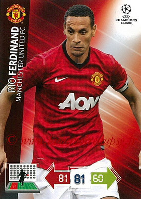 2012-13 - Adrenalyn XL champions League N° 138 - Rio FERDINAND (Manchester United FC)