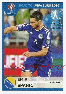 Panini Road to Euro 2016 Stickers - N° 018 - Emir SPAHIC (Bosnie Herzégovine)