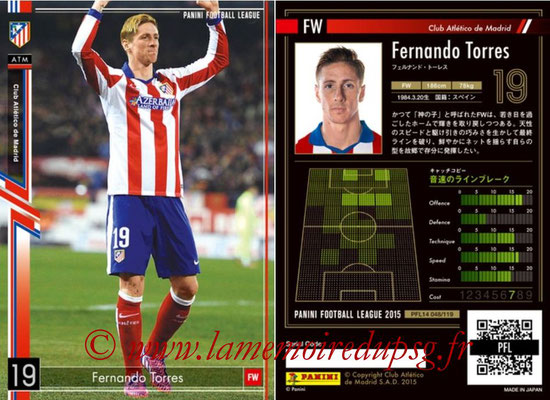 Panini Football League 2015 - PFL14 - N° 048 - Fernando TORRES (Club Atletico de Madrid)
