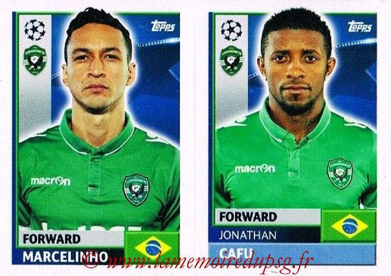 2016-17 - Topps UEFA Champions League Stickers - N° QFF 13-14 - Jonathan CAFU + MARCELINHO (PFC Ludogoretz Razgrad)
