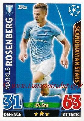 2015-16 - Topps UEFA Champions League Match Attax - N° N01 - Markus ROSENBERG (Malmô FF) (Scandinavian Stars) (Nordic Edition)
