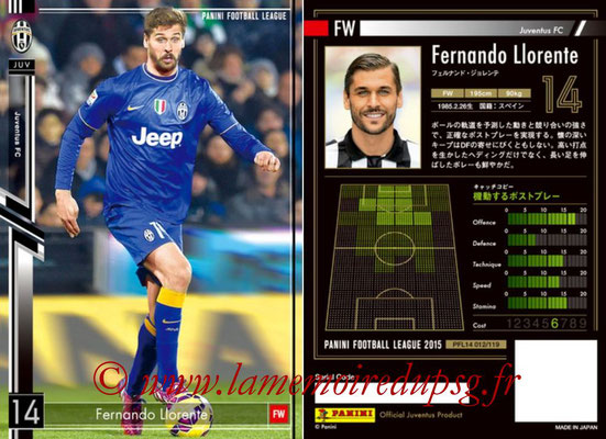 Panini Football League 2015 - PFL14 - N° 012 - Fernando LLORENTE (Juventus FC)