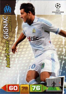2011-12 - Panini Champions League Cards - N° 201 - André-Pierre GIGNAC (Olympique de Marseille)