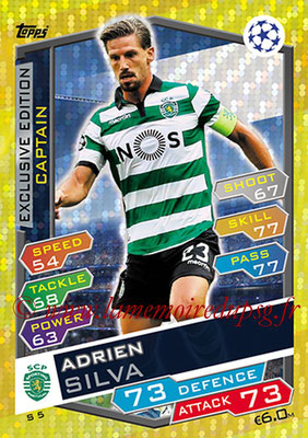 2016-17 - Topps UEFA Champions League Match Attax - N° S5 - Adrien SILVA (Sporting CP) (Captain) (Exclusive Edition)