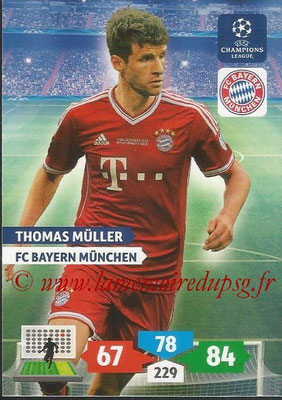 2013-14 - Adrenalyn XL champions League N° 089 - Thomas MULLER (FC Bayern Munich)
