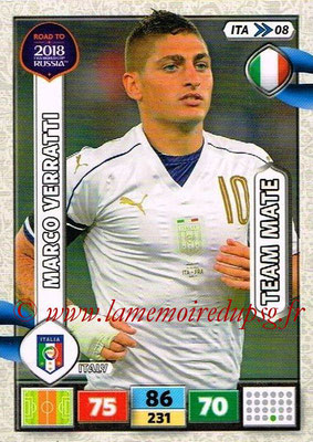 2018 - Panini Road to FIFA World Cup Russia Adrenalyn XL - N° ITA08 - Marco VERRATTI (Italie)