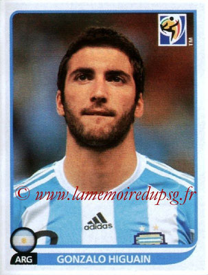 2010 - Panini FIFA World Cup South Africa Stickers - N° 120 - Gonzalo HIGUAIN (Argentine)