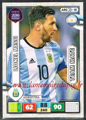 2018 - Panini Road to FIFA World Cup Russia Adrenalyn XL - N° ARG18 - Lionel MESSI (Argentine)