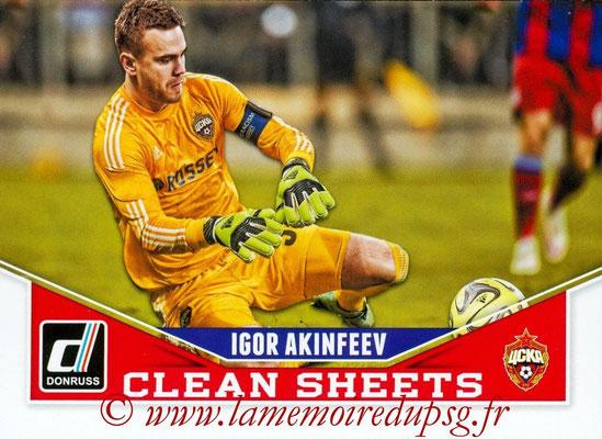 2015 - Panini Donruss Soccer - N° CS04 - Igor AKINFEEV (CSKA Moscou) (Clean Sheets)