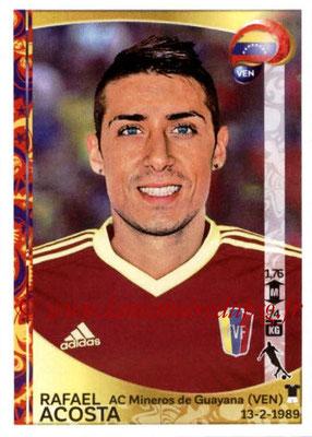 Panini Copa America Centenario USA 2016 Stickers - N° 291 - Rafael ACOSTA (Venezuela)