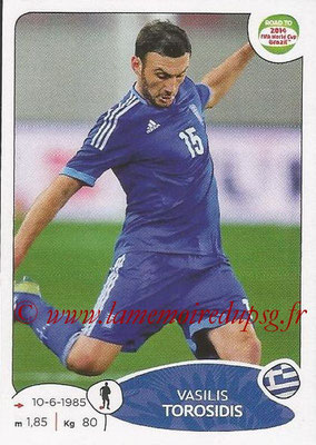 2014 - Panini Road to FIFA World Cup Brazil Stickers - N° 276 - Vasilis TOROSIDIS (Grèce)
