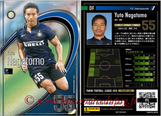 Panini Football League 2014 - PFL07P - N° 004 - Yuto NAGATOMO (Inter) (Star +)