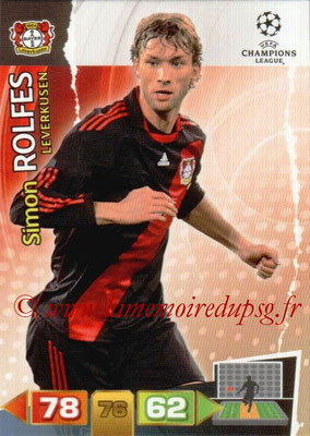 2011-12 - Panini Champions League Cards - N° 050 - Simon ROLFES (Bayer 04 Leverkusen)