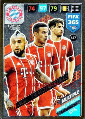 2017-18 - Panini FIFA 365 Cards - N° 447 - Arturo VIDAL + THIAGO + Javi MARTINEZ (FC Bayern Muniche) (Midfield Engine)