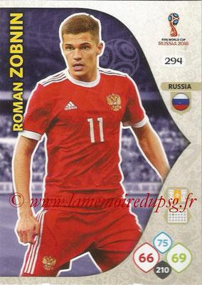 2018 - Panini FIFA World Cup Russia Adrenalyn XL - N° 294 - Roman ZOBNIN (Russie)