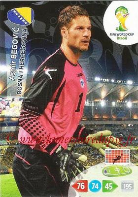 2014 - Panini FIFA World Cup Brazil Adrenalyn XL - N° 038 - Asmir BEGOVIC (Bosnie-Herzegovine)