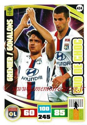 2016-17 - Panini Adrenalyn XL Ligue 1 - N° 424 - Clément GRENIER + Maxime GONALONS (Lyon) (Duo de Choc)