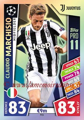 2017-18 - Topps UEFA Champions League Match Attax - N° P21 - Claudio MARCHISIO (Juventus) (Pro 11)