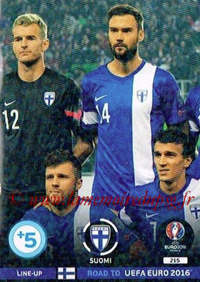Panini Road to Euro 2016 Cards - N° 215 - Equipe Finlande 2