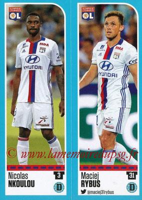 2016-17 - Panini Ligue 1 Stickers - N° 348 + 349 - Nicolas NKOULOU + Maciej RYBUS (Lyon)
