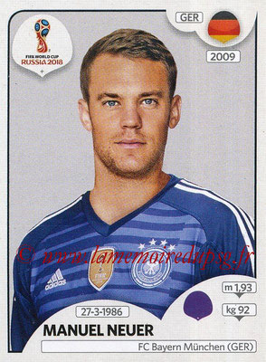2018 - Panini FIFA World Cup Russia Stickers - N° 434 - Manuel NEUER (Allemagne)