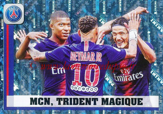 2018-19 - Panini Ligue 1 Stickers - N° 375 - MCN, Trident Magique (Paris Saint-Germain)