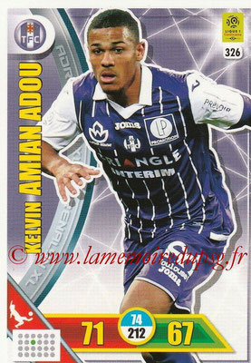 2017-18 - Panini Adrenalyn XL Ligue 1 - N° 326 - Kelvin AMIAN ADOU (Toulouse)