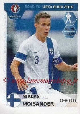 Panini Road to Euro 2016 Stickers - N° 322 - Niklas MOISANDER (Finlande)