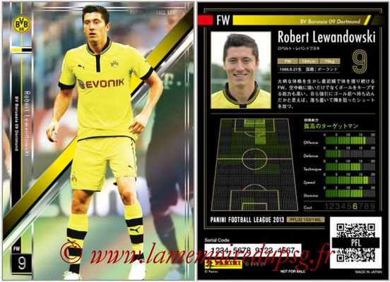 Panini Football League 2013 - PFL02 - N° 103 - Robert Lewandowski ( BV Borussia 09 Dortmund )