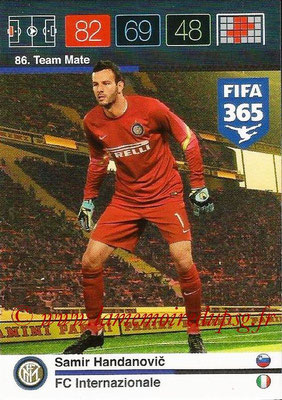 2015-16 - Panini Adrenalyn XL FIFA 365 - N° 086 - Samir HANDANOVIC (FC Internazionale) (Team Mate)