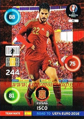 Panini Road to Euro 2016 Cards - N° 076 - ISCO (Espagne)