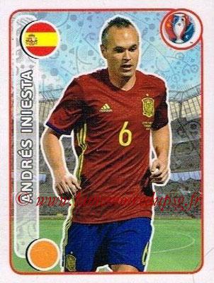 Panini Euro 2016 Stickers - N° 373 - Andrés INIESTA (Espagne)
