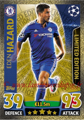 2015-16 - Topps UEFA Champions League Match Attax - N° LE3 - Eden HAZARD (Chelsea FC) (Limited Edition Gold)