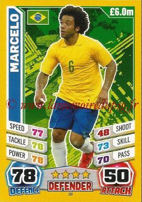 Topps Match Attax England 2014 - N° 038 - MARCELO (Brésil)