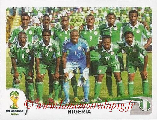 2014 - Panini FIFA World Cup Brazil Stickers - N° 470 - Equipe Nigéria