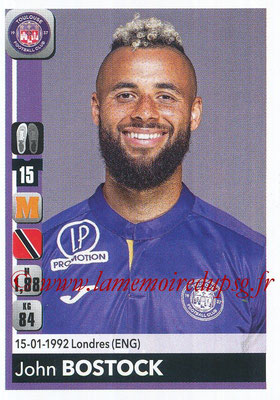 2018-19 - Panini Ligue 1 Stickers - N° 487 - John BOSTOCK (Toulouse)