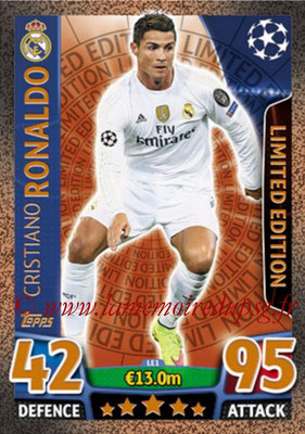 2015-16 - Topps UEFA Champions League Match Attax - N° LE1 - Cristiano RONALDO (Real Madrid CF) (Limited Edition Bronze)