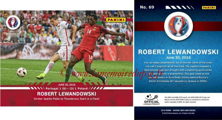 Panini Instant Euro 2016 - N° 069 - Robert LEWANDOWSKI