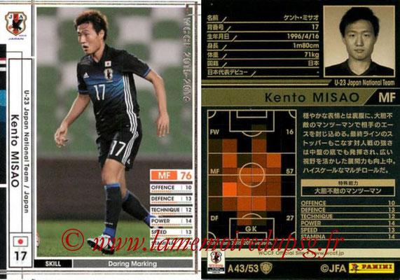 2015-16 - Panini WCCF - N° A43 - Kento MISAO (Japon)