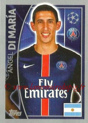 2015-16 - Topps UEFA Champions League Stickers - N° 025 - Angel DI MARIA (Paris Saint-Germain)