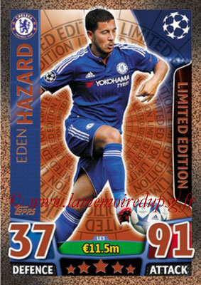 2015-16 - Topps UEFA Champions League Match Attax - N° LE3 - Eden HAZARD (Chelsea FC) (Limited Edition Bronze)
